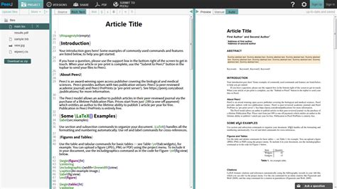 format date latex submit to peerj directly from writelatex overleaf blog