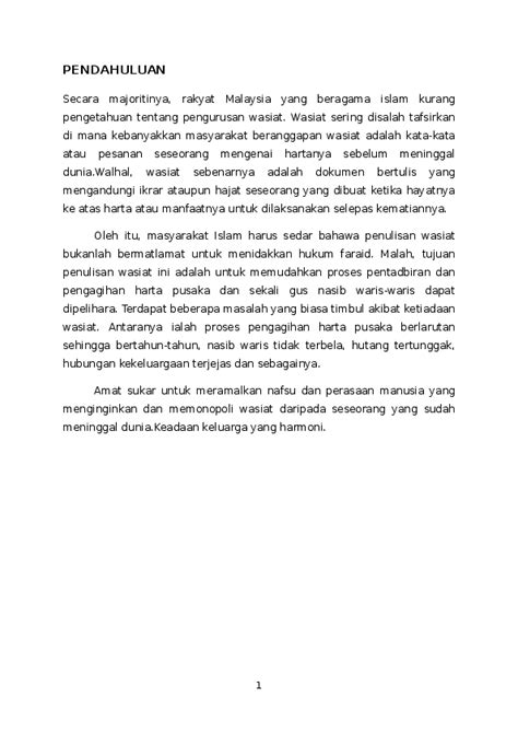 Contoh Surat Wasiat Malaysia - Kumpulan Contoh Surat dan