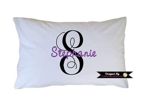 Monogram Pillow Cases by Personalized Purple And Black Monogram Pillow For