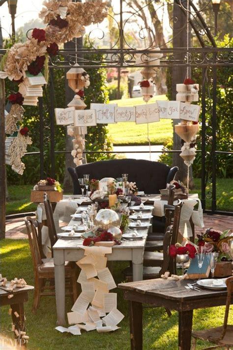 23 book inspired wedding decorating ideas pretty designs