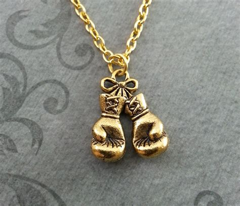 boxing gloves necklace small boxing necklace boxing gift