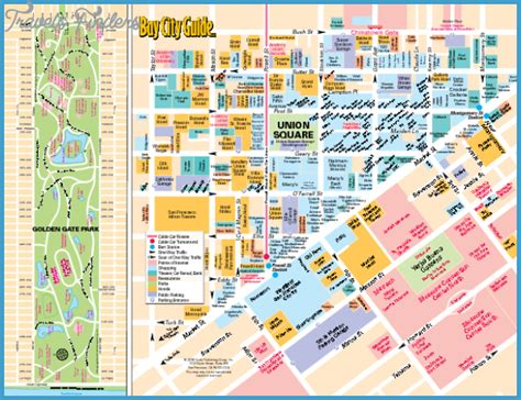 san francisco map tourist attractions san francisco oakland map tourist attractions