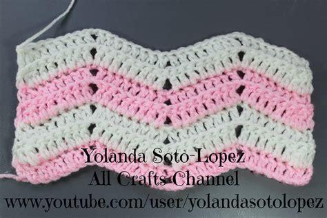 pattern making en espanol punto ripple en crochet espanol youtube