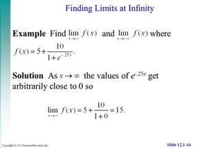 Value Of E Raise To Power Infinity Limits An Introduction To Limits Techniques For