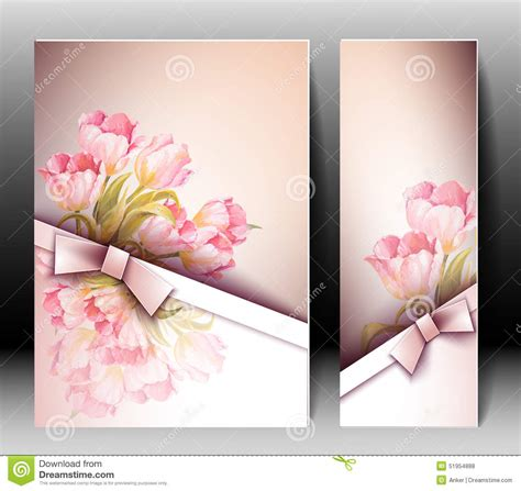 template that says cards flowers flowers invitation template card stock vector