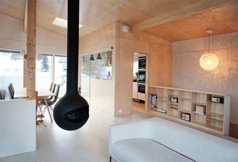 Rectangular Kitchen Design geometric norwegian house with creative interior fixtures