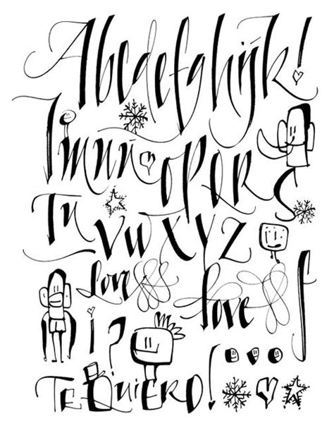 font design calligraphy silvia cordero vega calligraphy typography pinterest
