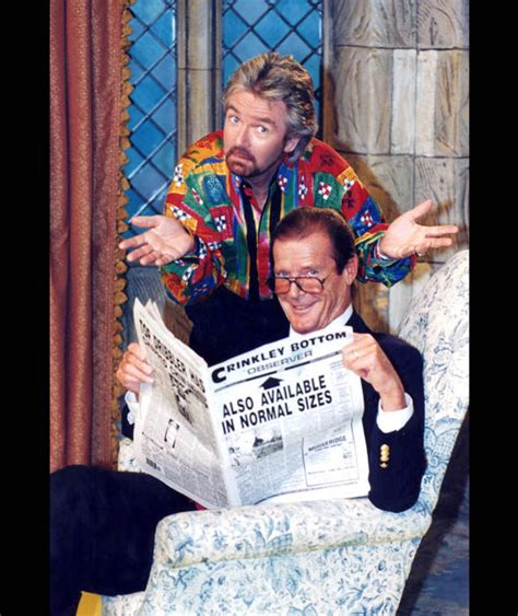 noel s house party noel edmonds and roger moore appearing on noel s house party october 1994 tv shows