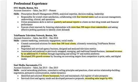 Resume Companion by Account Executive Resume Writing Tips Resume Companion