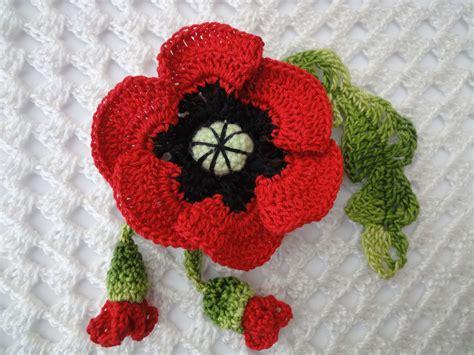 youtube poppy pattern мак с бутонами poppy with buds crochet youtube