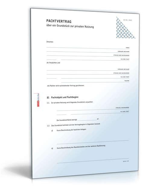Garten Mieten Vertrag by Pachtvertrag Grundst 252 Ck Rechtssicheres Muster Zum