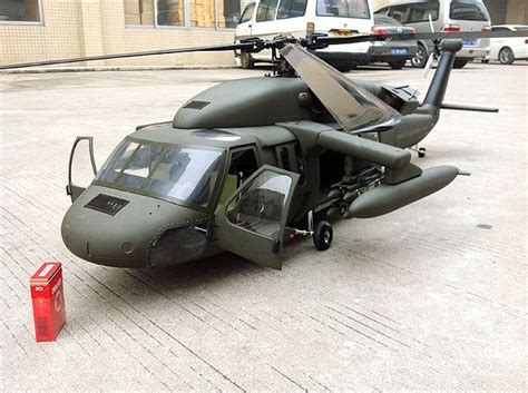 blade 500 3d crash 700 size uh 60 superscale tm black hawk rc aerodyne