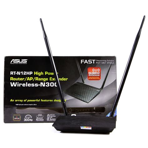 Router Wifi Bandung asus high power n300 3 in 1 wifi router access point repeater rt n12hp black