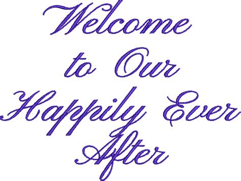Welcome to Our Happily Ever After Machine Embroidery ... P Design Logo