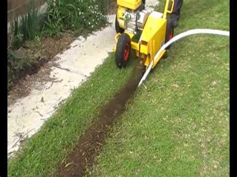 landscape lighting wire trencher kisss is simple to install