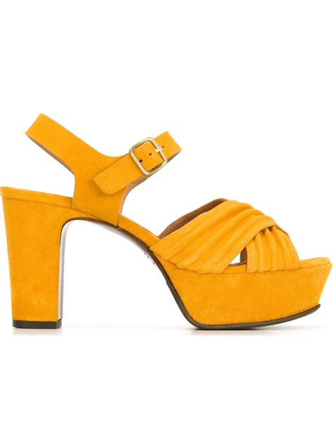yellow platform sandals lyst chie mihara chunky heel platform sandals in yellow