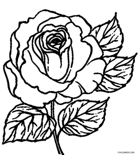printable rose coloring pages for kids cool2bkids