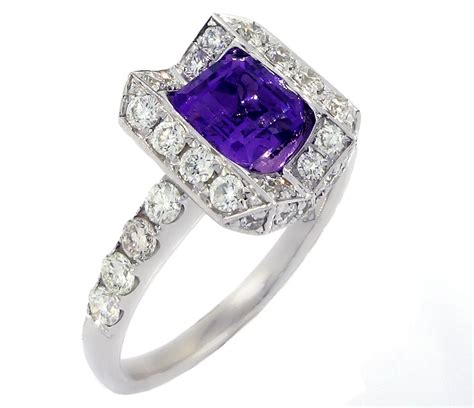 buy white gold ring with amethyst antwerp or