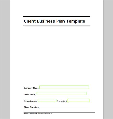 new template new business plan template sle templates