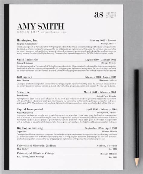 Resume Format Header Resume Template Cv Template The Resume Design Instant Word