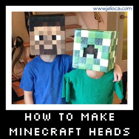 How To Make A Minecraft Steve Out Of Paper - how to make minecraft steve and creeper heads