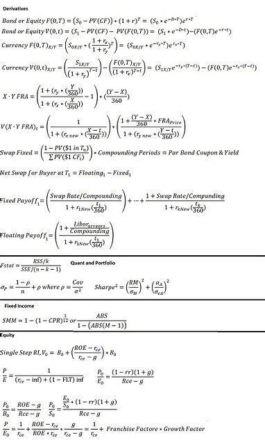 cfa report template cfa level 2 difficult formula handy tips