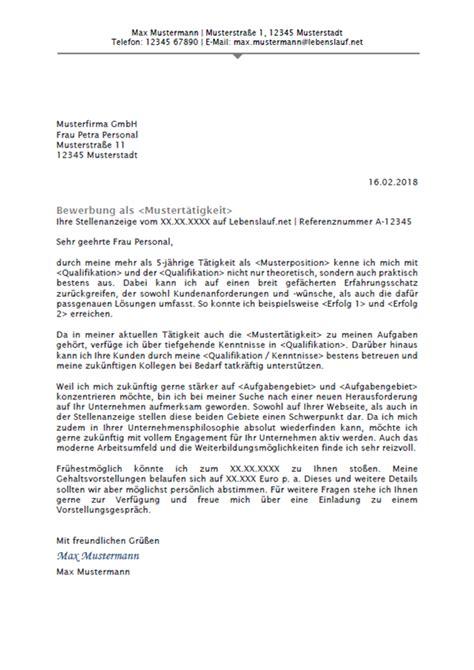 Bewerbung Anschreiben by Bewerbungsschreiben Professionelle Vorlagen Muster 2018