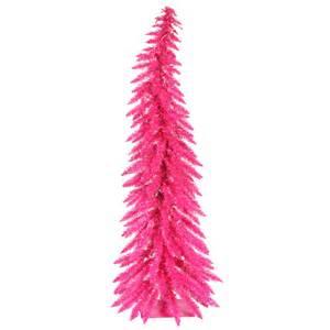 5 foot pink whimsical christmas tree pink mini lights