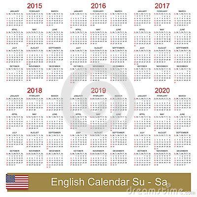 5 year calendar