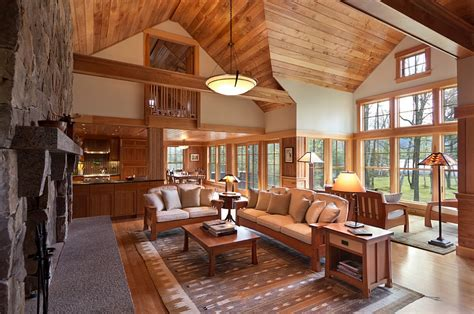 cabin living rooms cozy cabin retreat combines warmth of wood with a bright