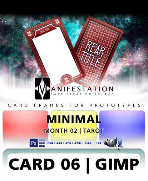 drive thru rpg card template card 06 minimal tarot gimp card design template for