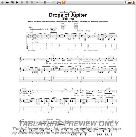 Train Drops Of Jupiter Guitar Chords
