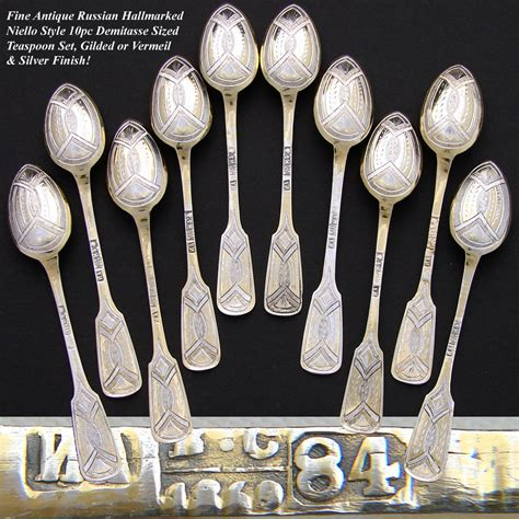 how to find treasures in russia and not antique russian hallmarked silver 10pc niello style