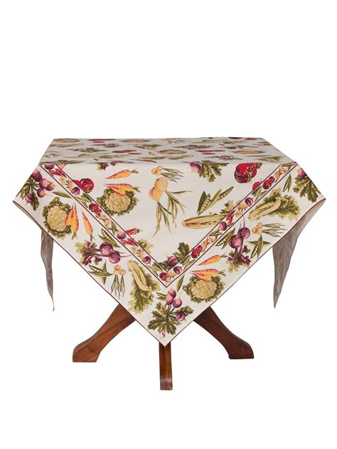 farm fresh tablecloth ecru linens kitchen