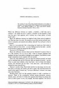 Writing An Observation Paper Three Informal Essays Springer