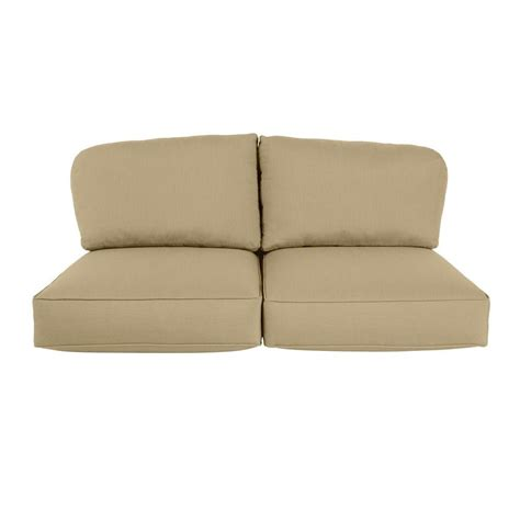 outdoor loveseat cushion replacement brown jordan northshore replacement outdoor loveseat