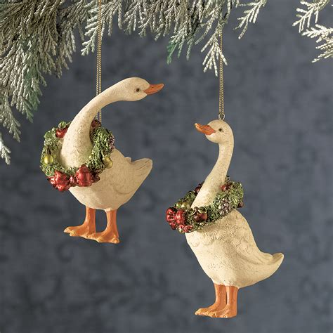 christmas geese ornaments gump s
