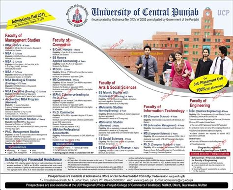 Government For Mba Marketing by Admission Open In Of Central Punjab 2018