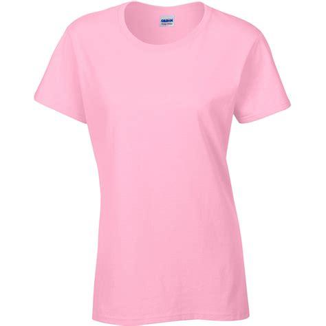 light pink shirt womens ladies women gildan heavy cotton short sleeve plain colour