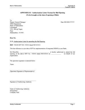 authorization letter format for tender opening authorization letter format templates fillable