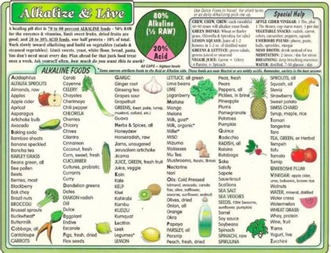 printable alkaline recipes what are you eating find out with these ph alkaline