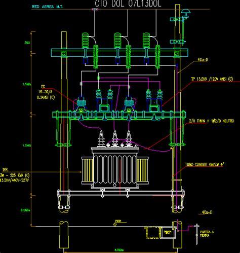 electric transformer   dwg block  autocad