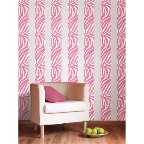 zebra print wallpaper border for bedrooms pink zebra print 16 removable vinyl sticker wall border