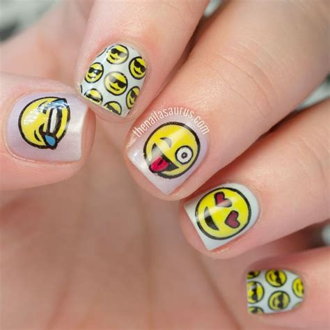 emoji nail art tutorial 521 best images about the nailasaurus on pinterest