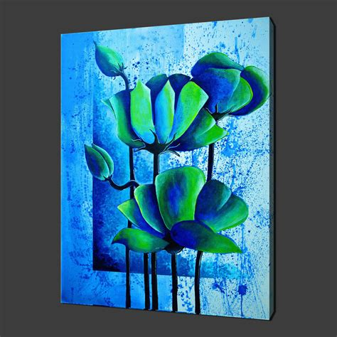 Canvas Flower 16 canvas print pictures high quality handmade free next