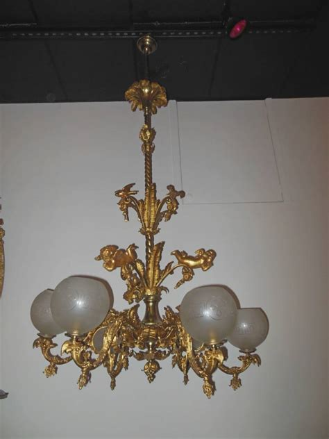 Gas Chandelier Gas Chandelier Rococo 6 Arm Chandelier 19th Century For Sale At 1stdibs