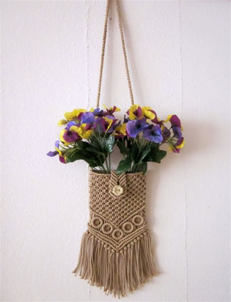 Etsy Macrame - items similar to macrame small purse on etsy