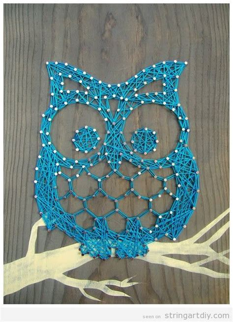 String Patterns Owl - owl string diy learn to make your own string