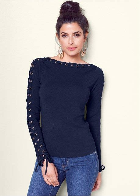 boat neck lace up boat neck sweater in my closet pinterest
