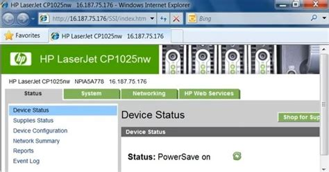 hp laserjet cp1025nw reset ip laserjet cp1025nw web services hp pinterest